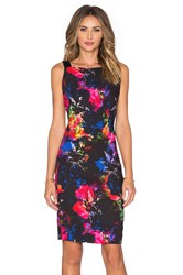 Milly Lou Lou Jewel Floral Print Dress Black