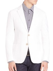 Giorgio Armani Solid Long Sleeves Blazer White
