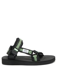 Aries X Suicoke Glow In The Dark Sandals Black Multi