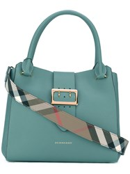 Burberry House Check Tote Bag Green