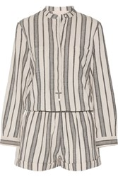 Vanessa Bruno Geza Cotton Jacquard Playsuit Beige