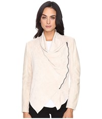 Blank Nyc Faux Suede Beige Drape Front Jacket In Sunny Days Sunny Days Women's Coat