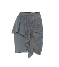 Etoile Isabel Marant Nely Cotton Blend Miniskirt Grey