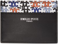 Emilio Pucci Black Logo Card Holder
