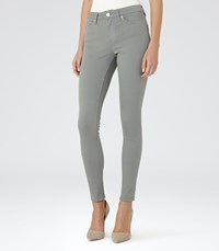 Reiss Stevie Womens Low Rise Skinny Jeans In Blue