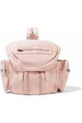 Alexander Wang Marti Zip Detailed Leather Backpack Pastel Pink