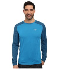 Arc'teryx Pelion Comp Long Sleeve Adriatic Blue Men's Clothing