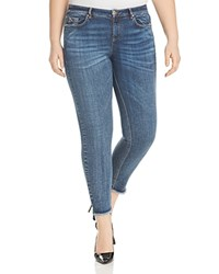 Marina Rinaldi X Ashley Graham Idrante Step Hem Slim Leg Jeans Ski Blue