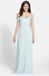 Amsale Women's Convertible Crinkled Silk Chiffon Gown Ice