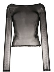 Patrizia Pepe Sheer Fitted Blouse 60