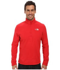 The North Face Tka 100 Glacier 1 4 Zip Tnf Red Men's Long Sleeve Pullover