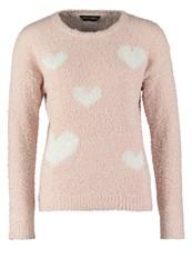 Dorothy Perkins Heart Jumper Pink Rose