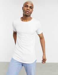 Bershka Join Life Organic Cotton Slim Fit T Shirt In White