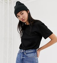 Weekday Relaxed Fit Crew Neck T Shirt In Black Black
