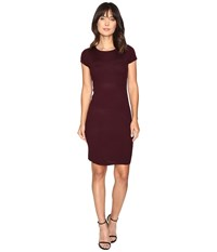 Culture Phit Germaine Ribbed Bodycon Sweater Dress Plum Women's Dress Purple