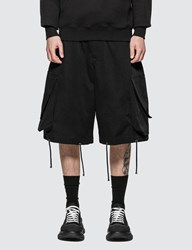 J.W.Anderson Jw Anderson Oversized Drawstring Cargo Shorts Black