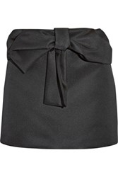 N 21 No. Bow Embellished Taffeta Mini Skirt Black