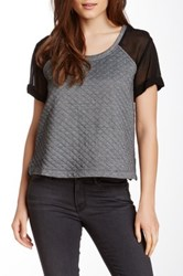 Autograph Addison Scoop Neck Knit Blouse Gray