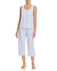 Ralph Lauren Tank And Capri Pajama Set Blue Stripe