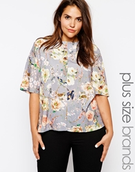 Truly You Floral Print Blouse Multi