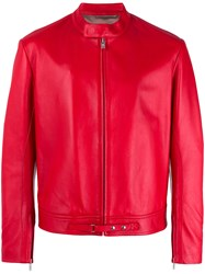 Maison Martin Margiela Biker Jacket Red