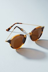 Anthropologie La Rambla Sunglasses Brown Motif