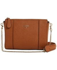 Guess Kamryn Mini Convertible Crossbody Cognac