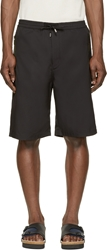 Cnc Costume National Black Technical Bermuda Shorts
