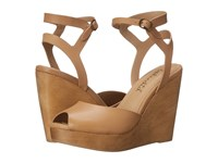 Splendid Danaka Nude Vintage Leather Women's Wedge Shoes Khaki