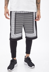 Forever 21 Chain Graphic Knit Shorts
