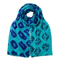 East Bandhini Ombre Scarf Blue