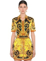 Versace Printed Stretch Jersey Shirt Multicolor