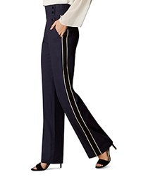 Karen Millen Side Stripe Pants Navy
