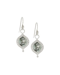 Jude Frances Green Amethyst Charm Drop Earrings