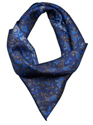 White Mountaineering Paisley Scarf Blue