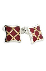 Men's David Donahue Sterling Silver Cuff Links Wine Gold