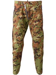 Dsquared2 Camouflage Tapered Trousers Green