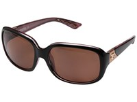 Costa Gannet Shiny Black Hibiscus Frame Copper 580P Sport Sunglasses Brown