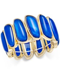 Charter Club Gold Tone Colored Shell Bracelet Only At Macy's Blue