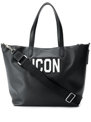 Dsquared2 Large Icon Tote Black