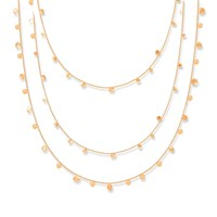 Lily Flo Jewellery Stardust Scattered Stars Rose Gold Triple Strand Necklace