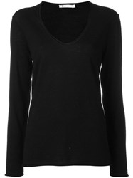 Alexander Wang T By Scoop Neck Sweatshirt Black