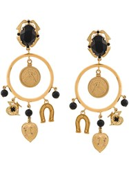 Dolce And Gabbana Dream Catcher Earrings Gold
