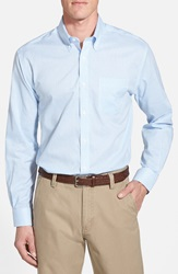 Cutter Buck 'Epic Easy Care' Classic Fit Wrinkle Free Tattersall Plaid Sport Shirt Online Only Atlas Blue
