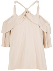 Olympiah Could Shoulder Blouse Viscose Nude Neutrals