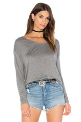 American Vintage Vixynut Long Sleeve Top Gray