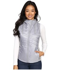 Smartwool Double Propulsion 60 Hooded Vest Silver Women's Vest