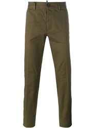 Dsquared2 Slim Fit Chinos Green