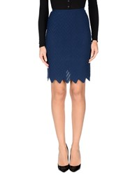 Alaia Knee Length Skirts Blue