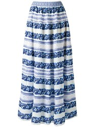 Cecilia Prado Knit Maxi Skirt Blue